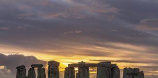 stonehenge and sunset
