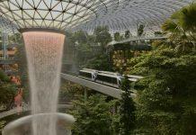waterfall,indoor,airport