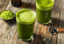 Homemade,Green,Matcha,Beer,In,A,Glass